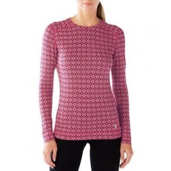 Кофта Smartwool Merino 250 Baselayer Pattern Crew Potion Pink
