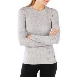 Кофта Smartwool Merino 250 Baselayer Pattern Crew Winter White