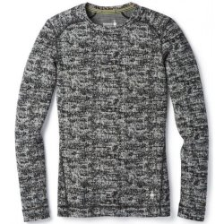 Кофта Smartwool Merino 250 Baselayer Pattern Crew Black/Moonbeam Heather