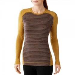 Кофта Smartwool Merino 250 Baselayer Pattern Crew Sunglow Heather