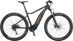 "Электровелосипед KTM Macina Action 291 29"" 500Wh black matt (black + orange glossy)"