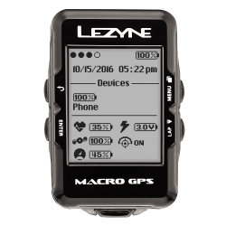 Компьютер Lezyne Macro GPS HR Loaded черный