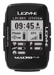 Компьютер Lezyne Macro Plus GPS HR/ProSC Loaded черный