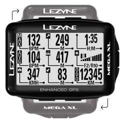 Компьютер Lezyne Mega XL GPS HR/ProSC Loaded черный