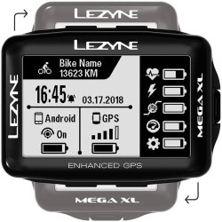 Компьютер Lezyne Mega XL GPS Smart Loaded черный