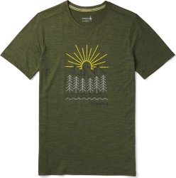 Футболка Smartwool Merino 150 Mountain Morning Tee (Moss Green Heather)