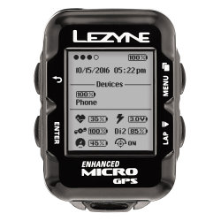 Компьютер Lezyne Micro GPS HR Loaded черный