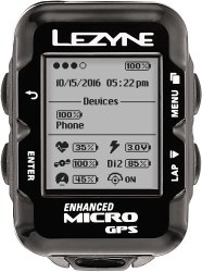 Компьютер Lezyne Micro GPS HRSC Loaded черный