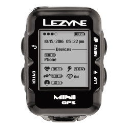 Компьютер Lezyne Mini GPS HR Loaded черный
