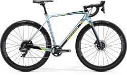 Велосипед Merida Mission CX Force EDI glossy sparkling blue/black (lime)