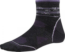 Носки женские Smartwool PhD Outdoor Ultra Light Pattern Mini (Charcoal/Desert Purple)