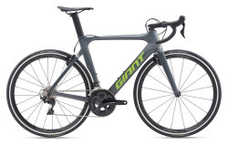 Велосипед Giant Propel Advanced 2 Matte Charcoal/Gloss Metallic Lime