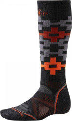 Носки Smartwool Snowboard Medium Pattern (Charcoal/Orange)