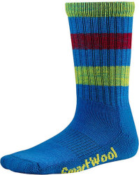 Носки детские Smartwool Striped Hike Light Crew (Bright Blue)