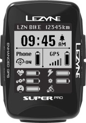Компьютер Lezyne Super Pro GPS HR Loaded черный