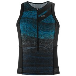 Футболка Garneau Vent Tri Sleeveless Top черно-синяя
