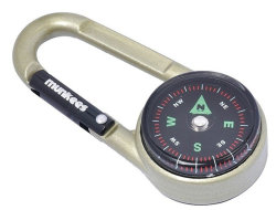 Брелок-карабин Munkees 3135 COMPASS WITH THERMOMETR