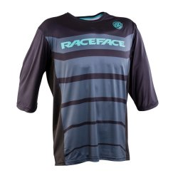 Веломайка Race Face Indy 3/4 Sleeve jersey черно-синяя