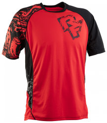 Веломайка RaceFace Indy jersey SS flame/black