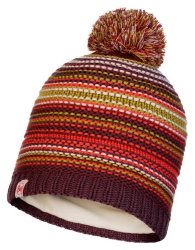 Шапка с помпоном Buff Junior Knitted & Polar Hat Amity maroon
