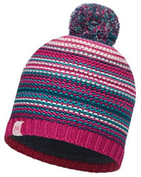 Шапка с помпоном Buff Junior Knitted & Polar Hat Amity pink cerisse