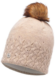 Шапка с помпоном Buff Knitted & Polar Hat elie beige