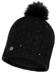 Шапка с помпоном Buff Knitted & Polar Hat elie black