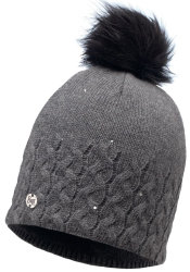Шапка с помпоном Buff Knitted & Polar Hat elie grey