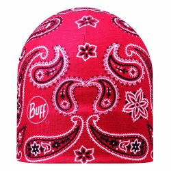 Шапка Buff Microfiber Reversible Hat cashmere red-black
