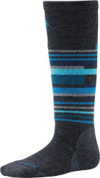 Носки детские Smartwool Wintersport Stripe (Charcoal Heather)