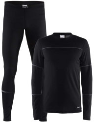 Комплект термобелья Craft Baselayer Set Man black/granite