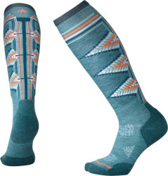 Носки женские Smartwool PhD Ski Light Pattern (Mediterranean Green)