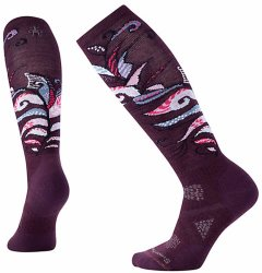 Носки женские Smartwool PhD Ski Medium Pattern Socks (Bordeaux)
