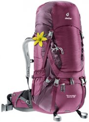Рюкзак Deuter Aircontact 50 + 10 SL цвет 5530 blackberry-aubergine