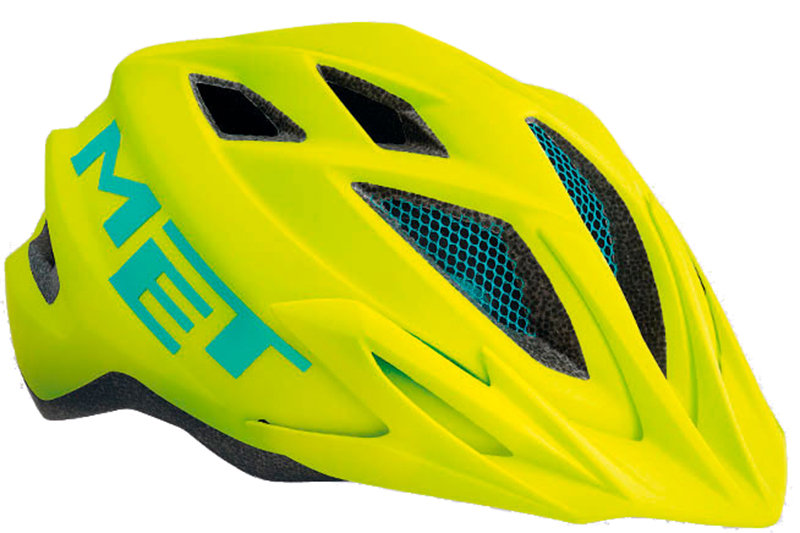 Велосипедный шлем MET CRACKERJACK safety yellow 3HELM 82 UN VL