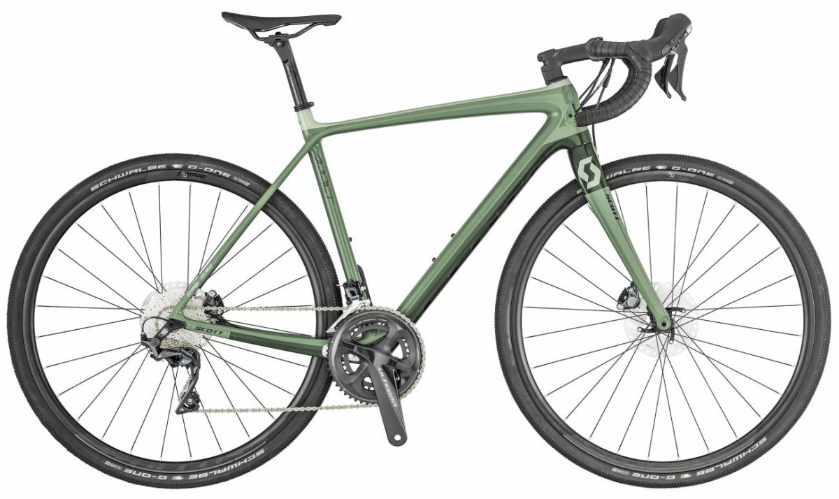 Велосипед Scott Addict Gravel 20 green/black 269903.023, 269903.022