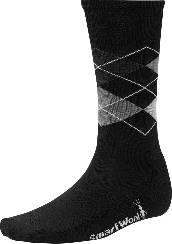 Носки Smartwool Diamond Jim (Black/Medium Gray Heather) SW SW819.250-L SW SW819.250-M