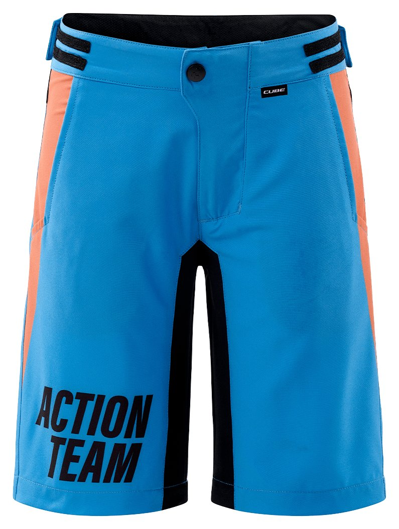 Шорты Cube Junior Baggy Shorts incl. Liner Shorts X Actionteam blue n orange