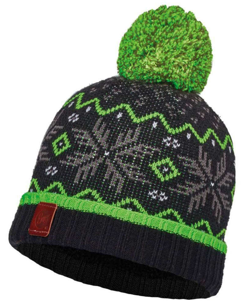 Шапка с помпоном Buff Junior Knitted & Polar Hat Nester black BU 113530.999.10.00