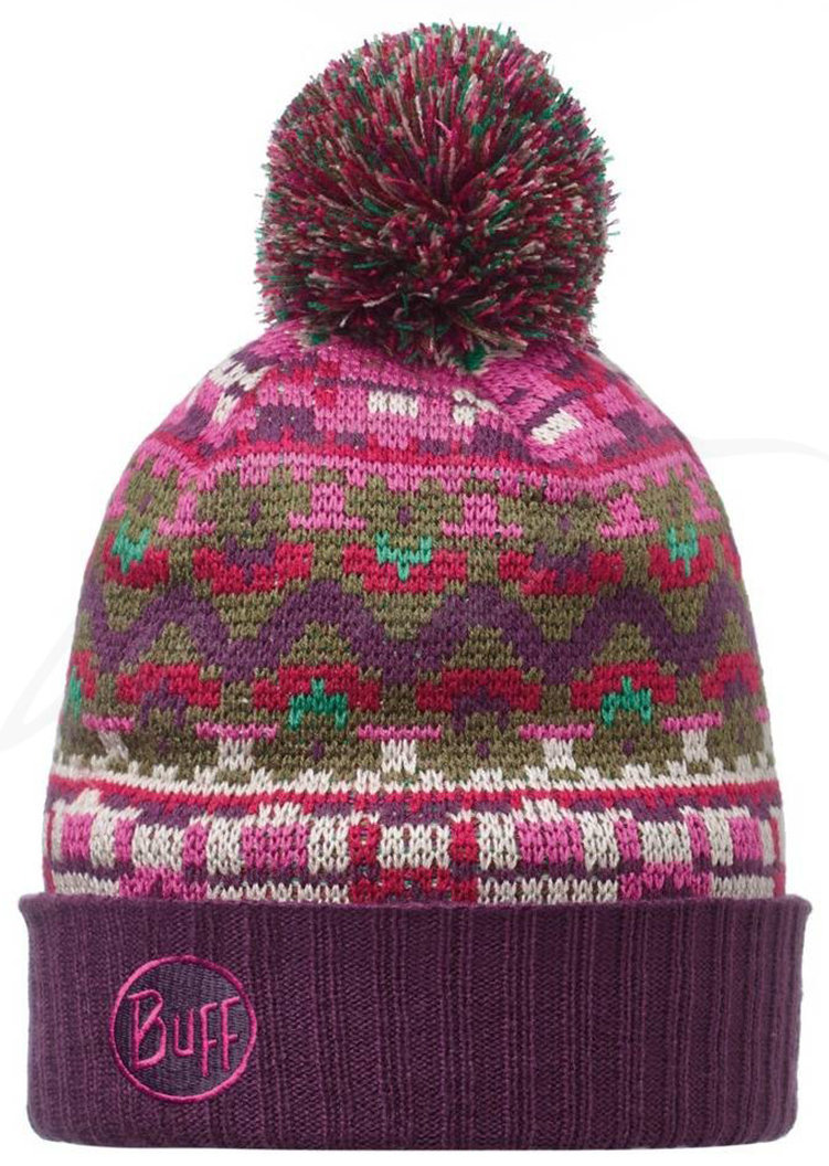 Шапка с помпоном Buff Knitted & Polar Hat idris plum