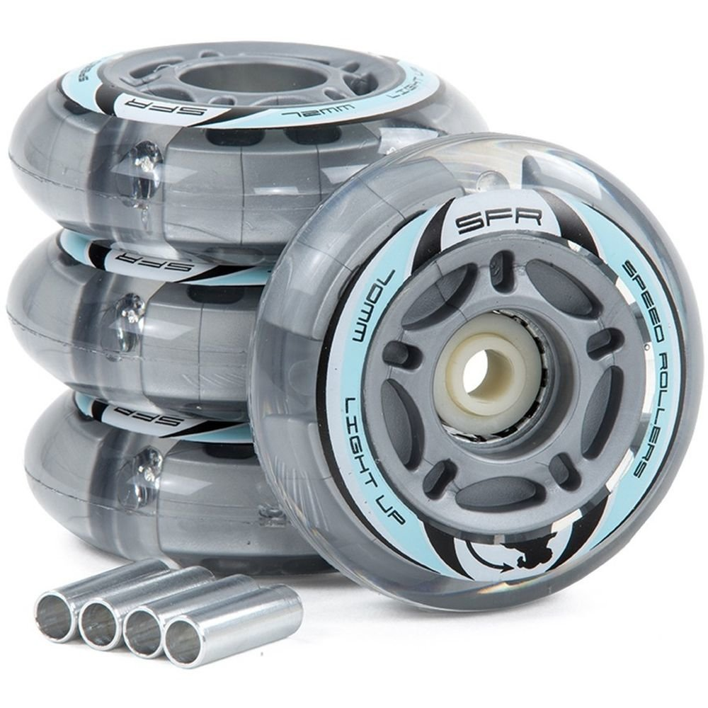 Колеса SFR Light Up Inline Wheels 72/82A grey SFR501