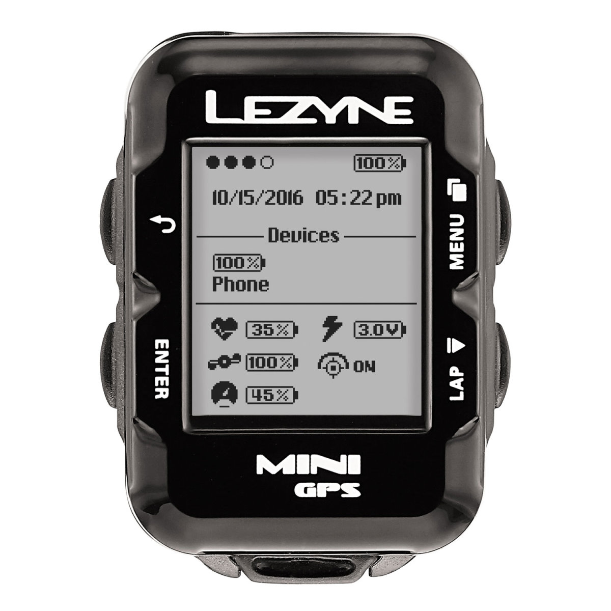 Компьютер Lezyne Mini GPS HR Loaded черный 4712805 987269