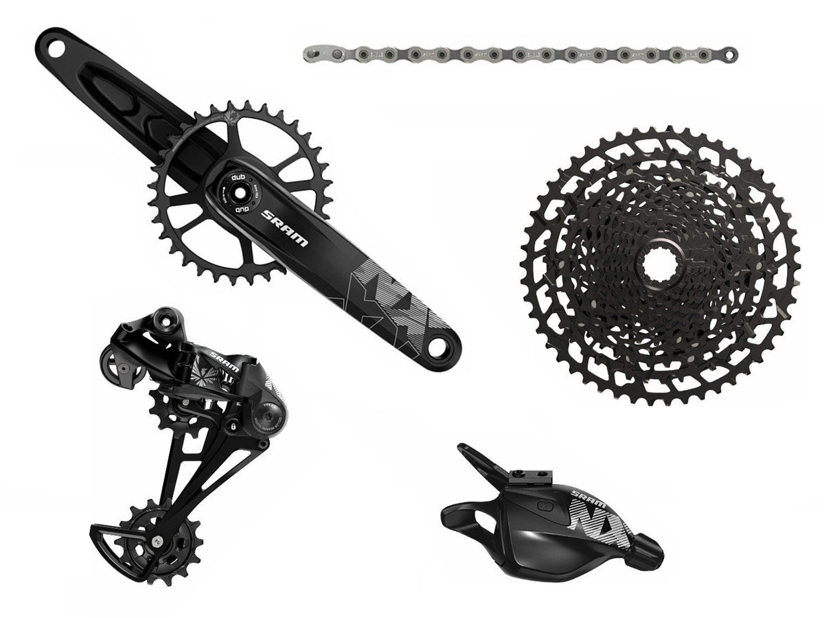 Групсет Sram NX Eagle DUB Groupset Rear Der Trigger Shifter w Clamp Crankset DUB 00.7918.076.002 00.7918.076.003