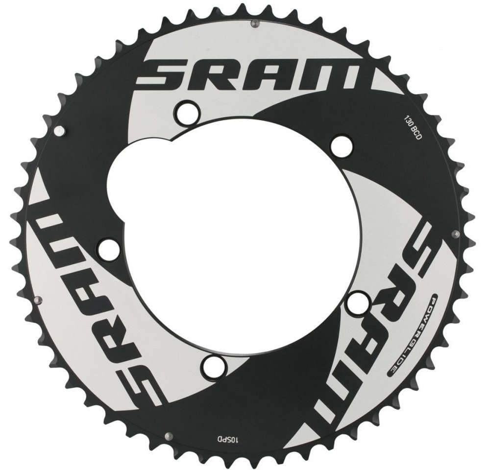 Звезда Sram POWERGLIDE CRING ROAD Red 10S 53T 130 AL4 BLK TT 11.6215.198.020