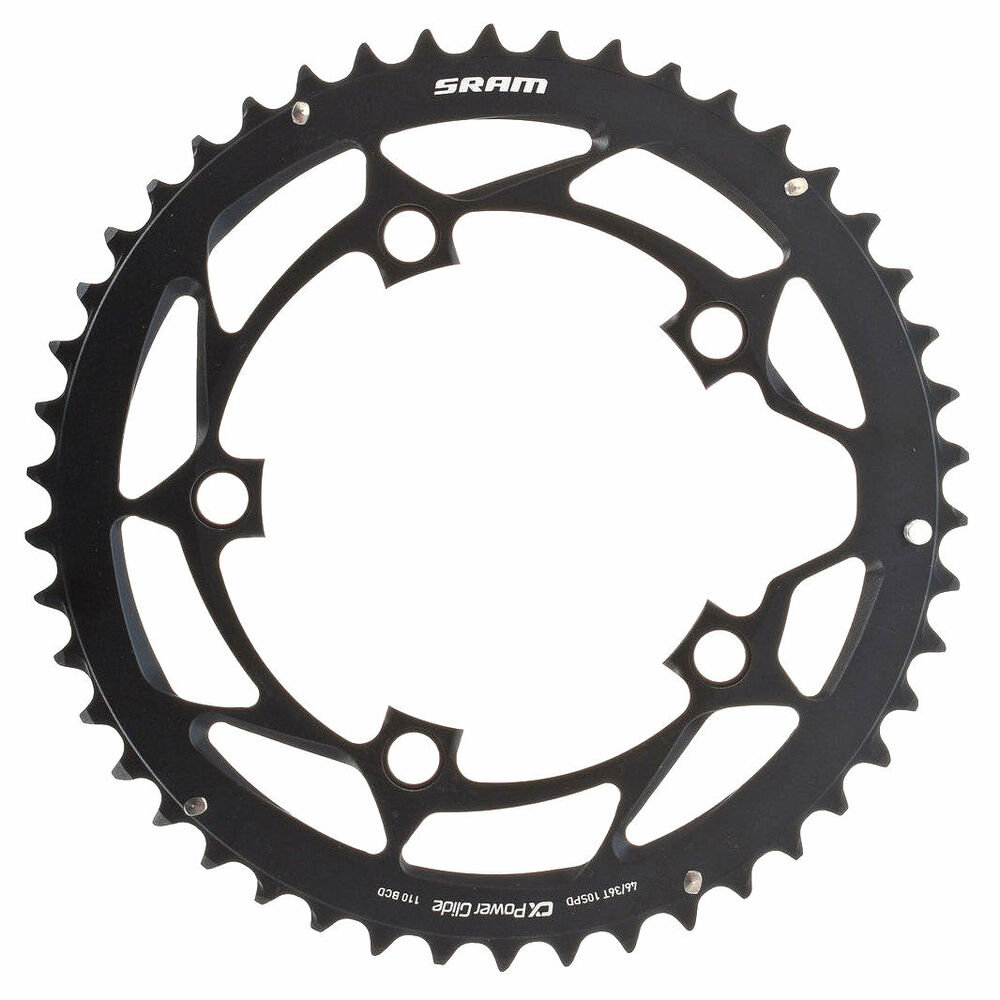 Звезда Sram POWERGLIDE CRING ROAD 46T 10S 110 AL4BLK S-PIN BB30 11.6215.197.190
