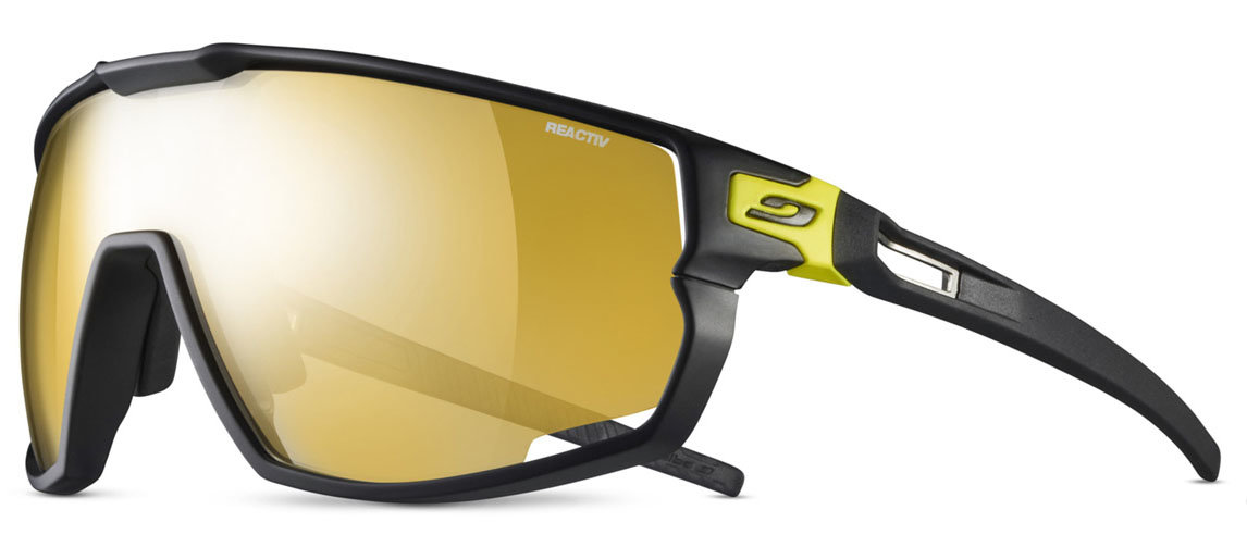 Очки Julbo Rush Black / yellow Reactiv Performance 1-3 LAG Yellow/Brown Gold flash J5343223
