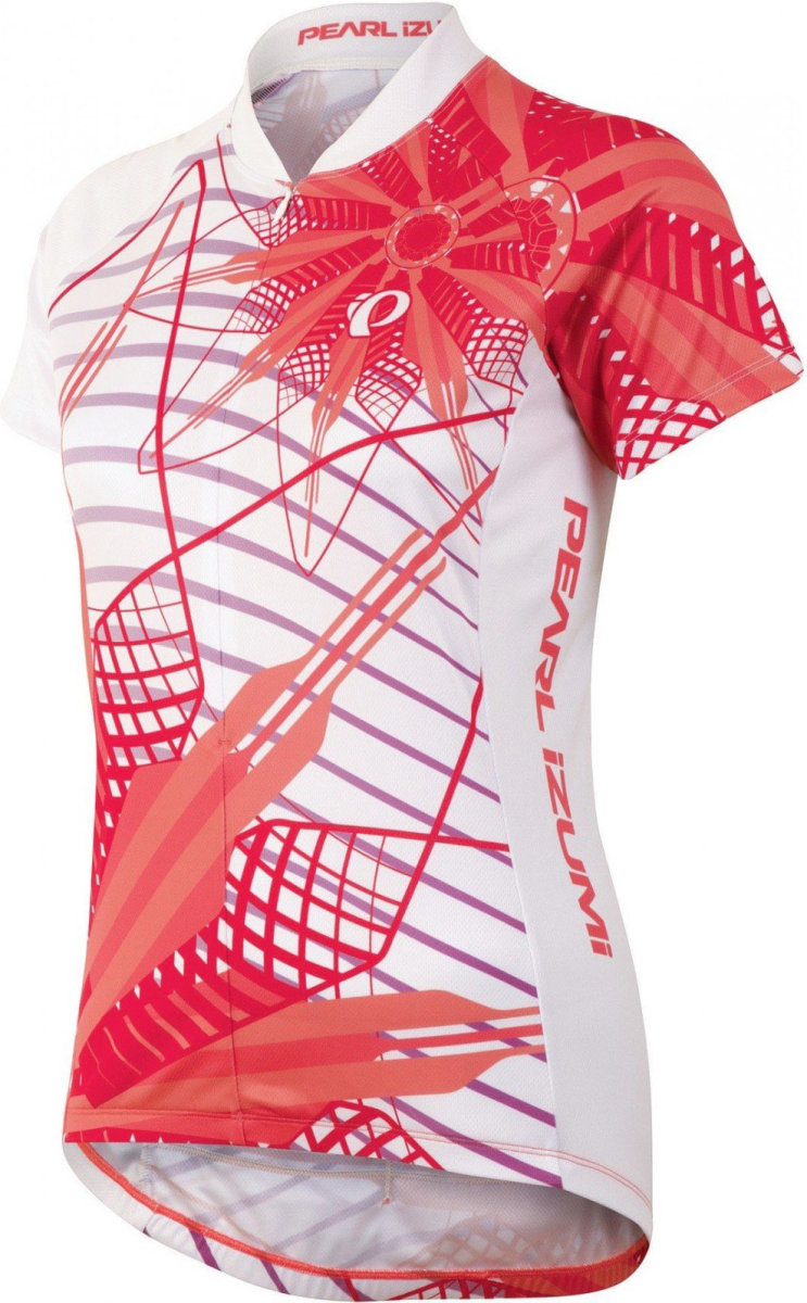 Джерси женский Pearl iZUMi SELECT LTD Short Sleeve Jersey бело-коралловый P08414PZ-L, P08414PZ-M