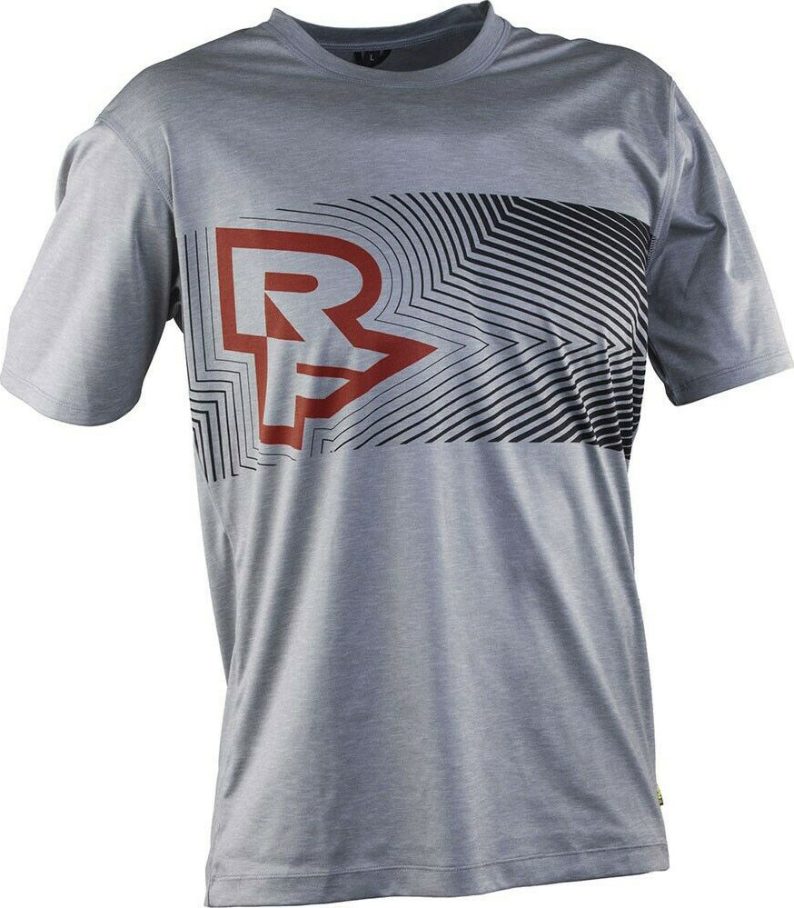 Футболка RaceFace Trigger Tech Top SS Jersey grey/flame JA616005
