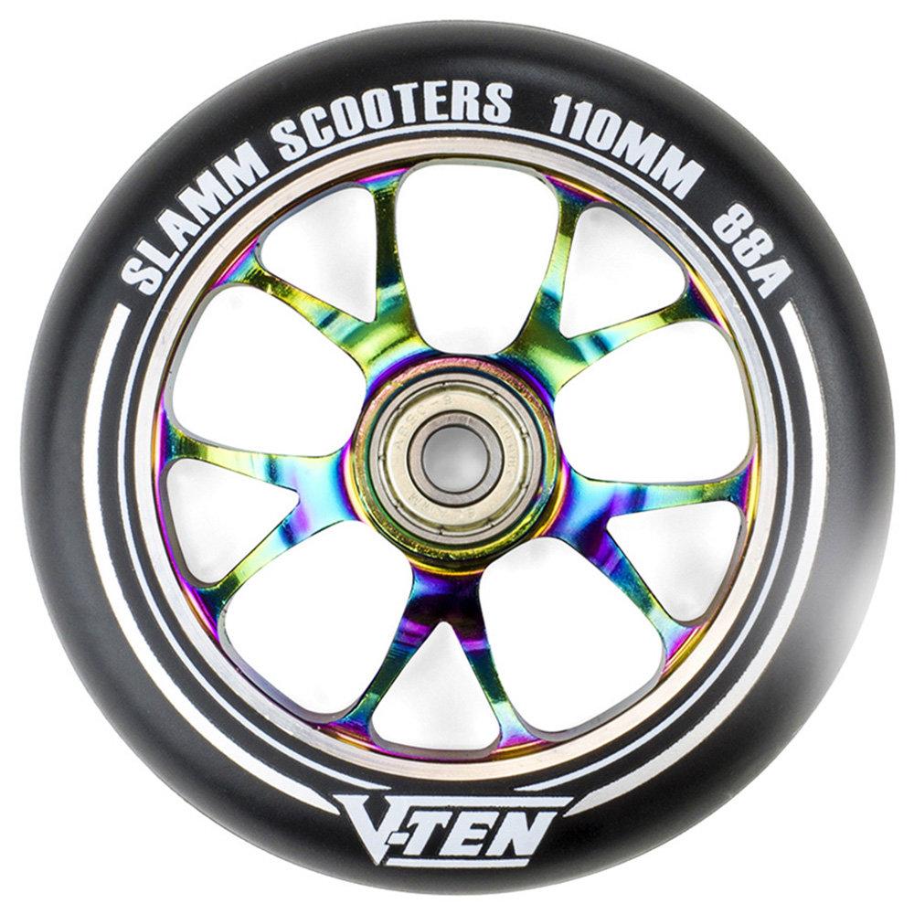 110mm Green Slamm Scooter Wheel V-Ten II