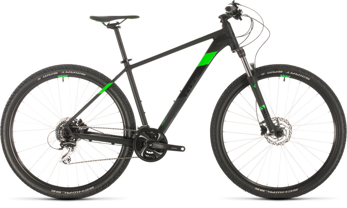 Велосипед Cube Aim Race 27.5 black'n'flashgreen 301400-16 301400-18